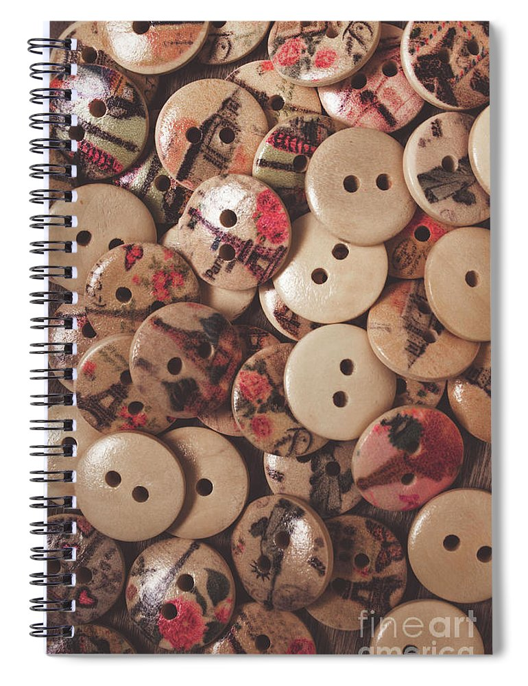 Textile Spiral Notebook featuring the photograph The Textile Pile by Jorgo Photography - Wall Art Gallery