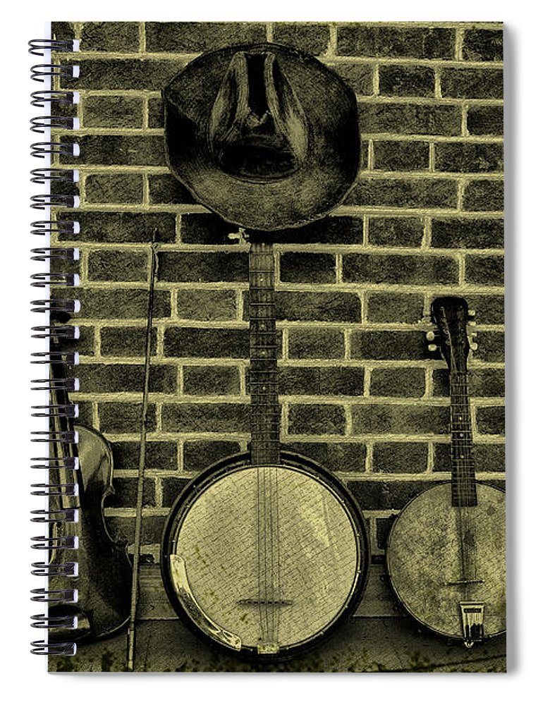 Folk Spiral Notebook featuring the photograph The Three Amigos - Folk Music by Bill Cannon