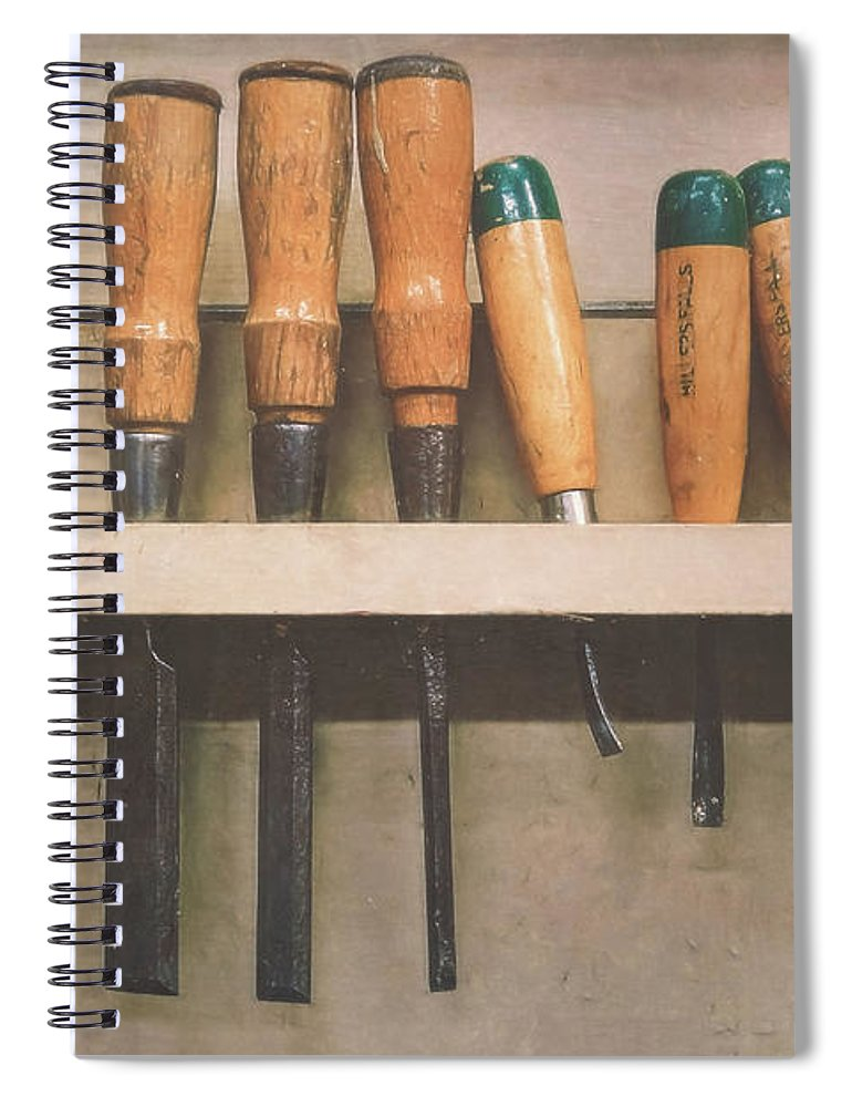 Chisel Spiral Notebook featuring the photograph The Tools Of The Trade by Scott Norris