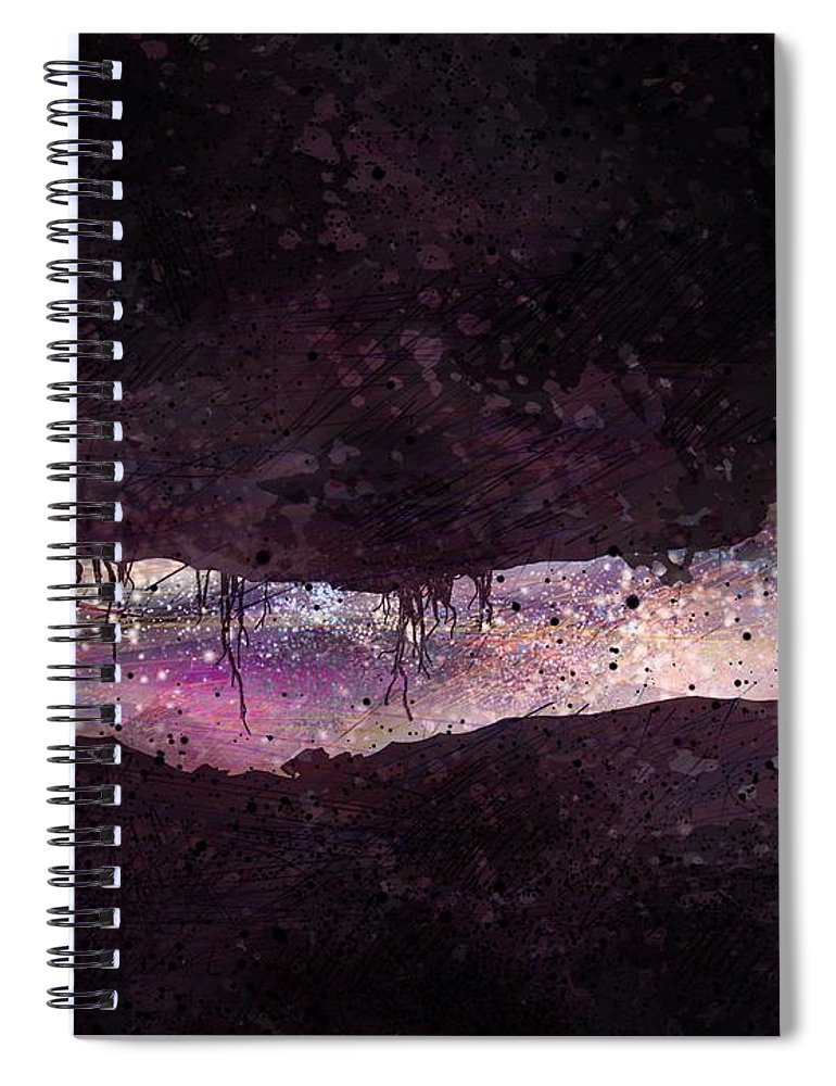 Tunnel Spiral Notebook featuring the digital art The Tunnel by William Russell Nowicki