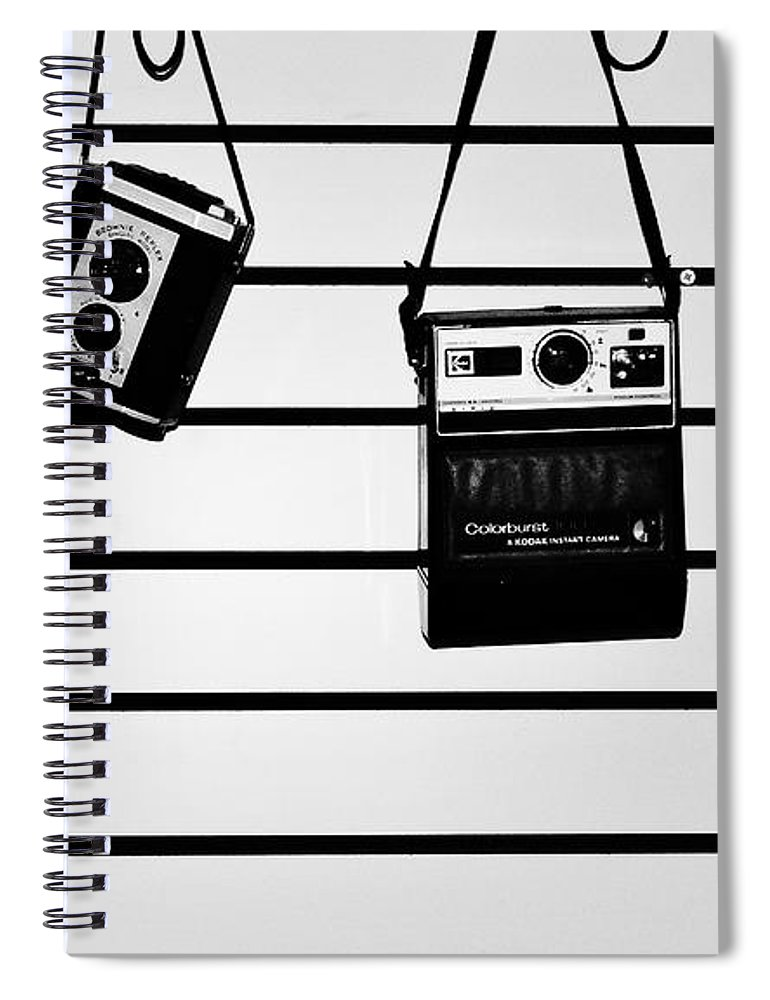 Cameras Spiral Notebook featuring the photograph The Usual Suspects by Daniel Thompson