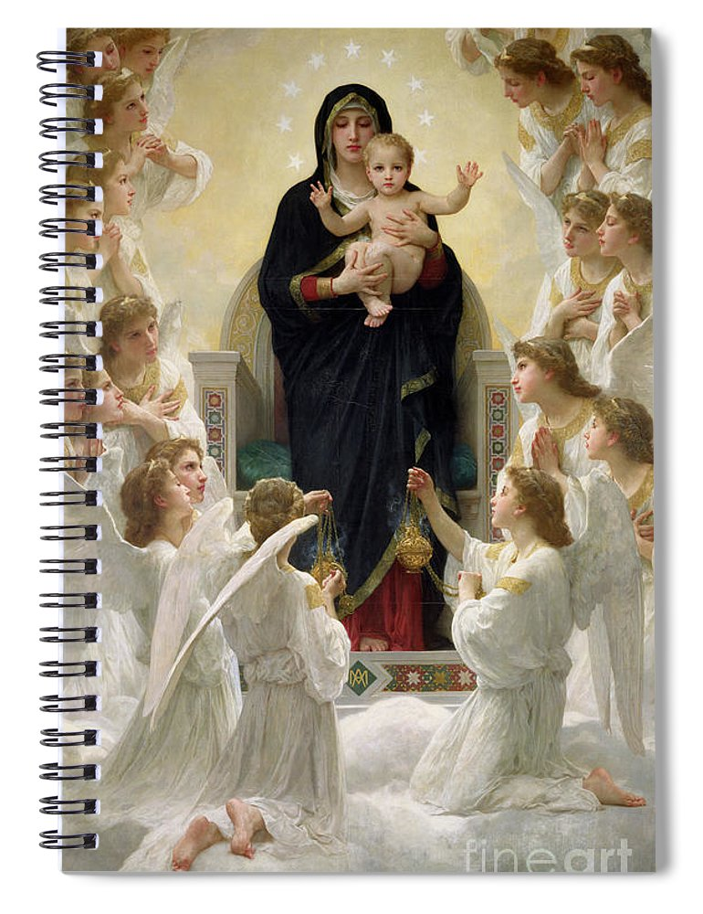 The Spiral Notebook featuring the painting The Virgin With Angels by William-Adolphe Bouguereau