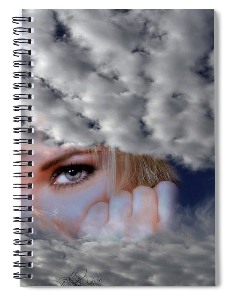 Clay Spiral Notebook featuring the photograph The Watcher Above by Clayton Bruster