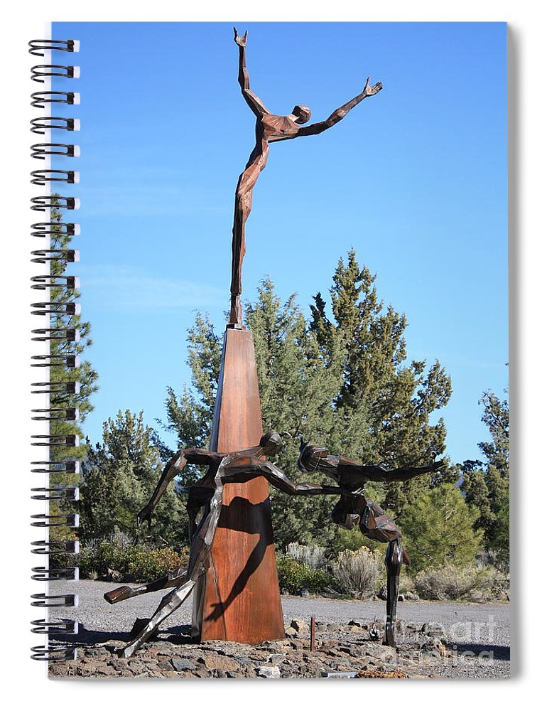 Living Memorial Sculpture Garden Spiral Notebook featuring the photograph The Why Group by Carol Groenen