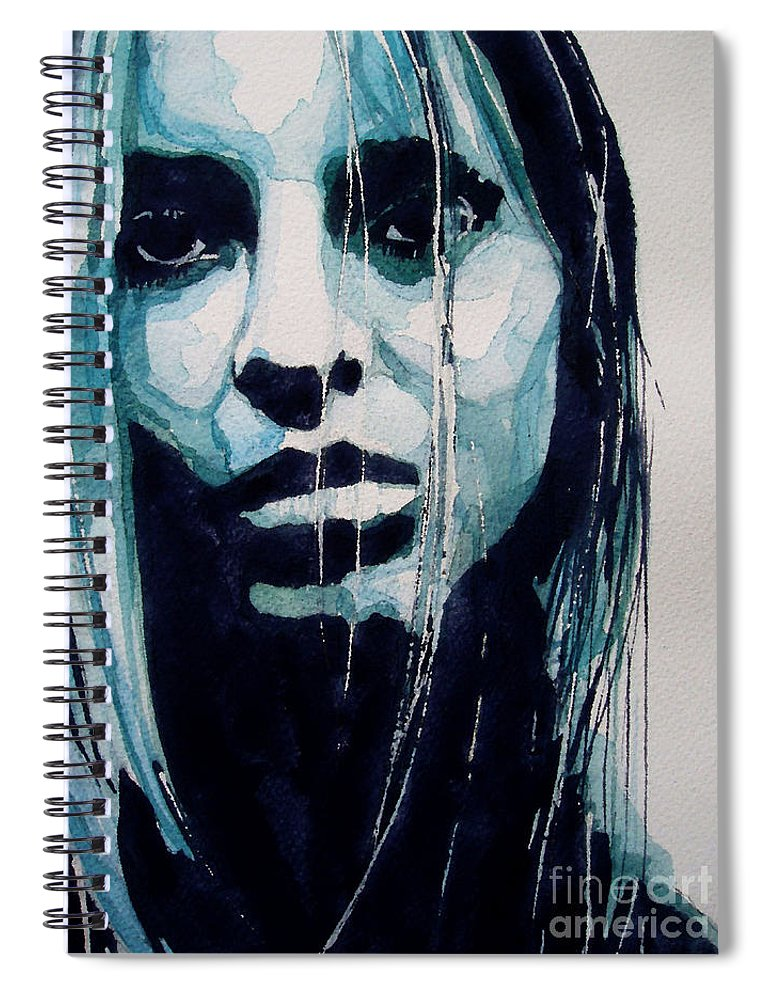 Portrait Spiral Notebook featuring the painting The Winner Takes It All by Paul Lovering