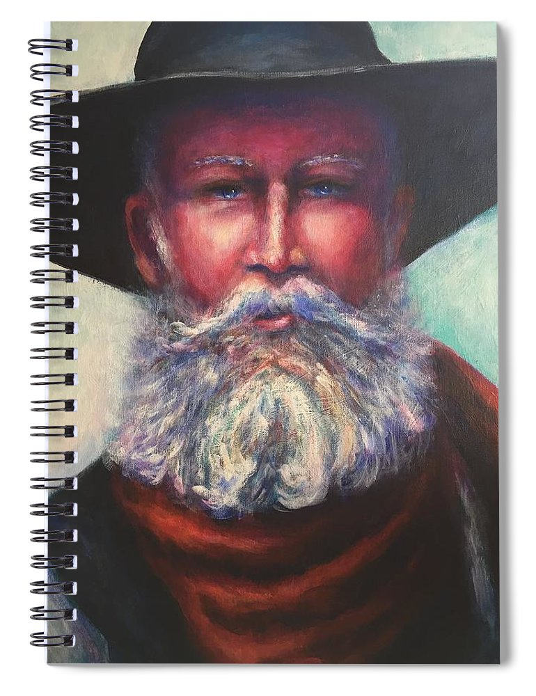 Portrait Spiral Notebook featuring the painting There Aint No Easy Way Out by Shannon Grissom