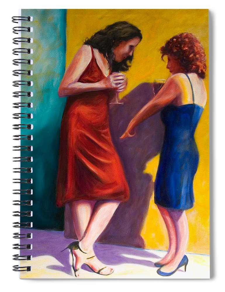 Figurative Spiral Notebook featuring the painting There by Shannon Grissom