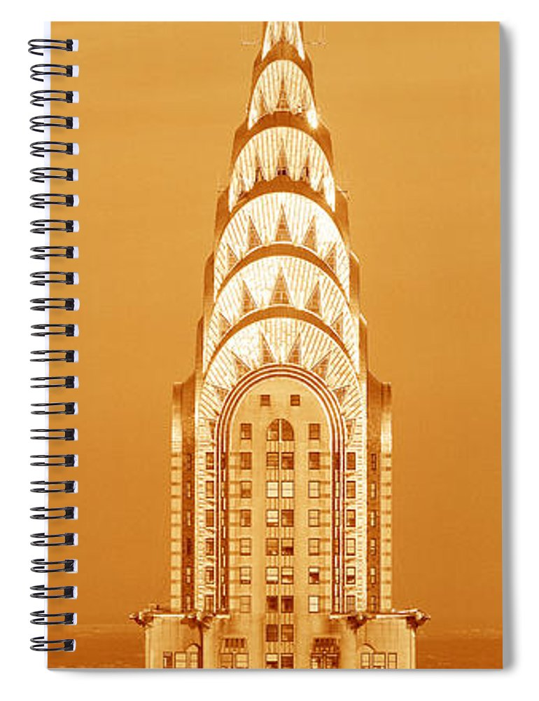 Photography Spiral Notebook featuring the photograph Chrysler Building At Sunset by Panoramic Images