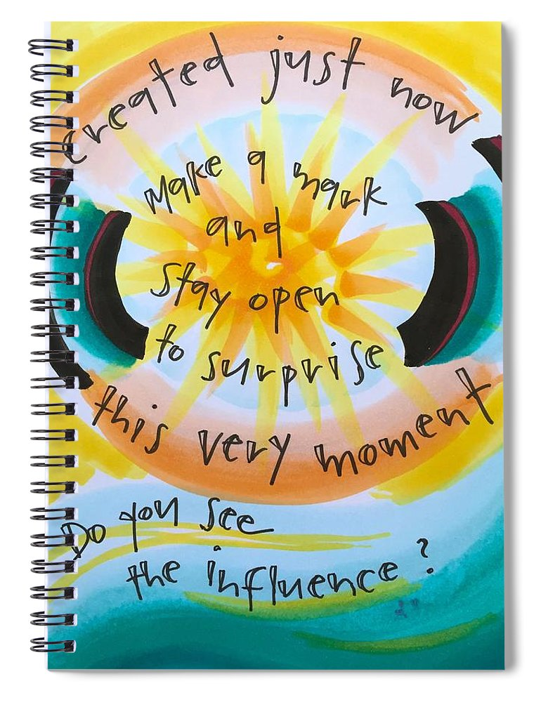 Creativity Spiral Notebook featuring the painting This Very Moment by Vonda Drees