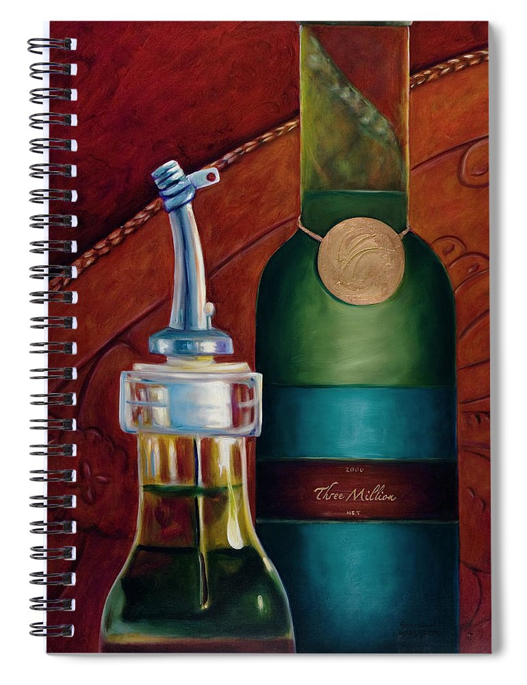 Olive Oil Spiral Notebook featuring the painting Three Million Net by Shannon Grissom