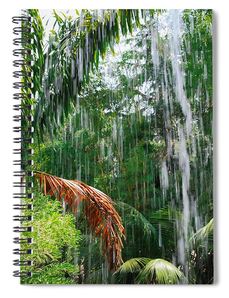 Waterfall Spiral Notebook featuring the photograph Through The Waterfall by Alison Frank