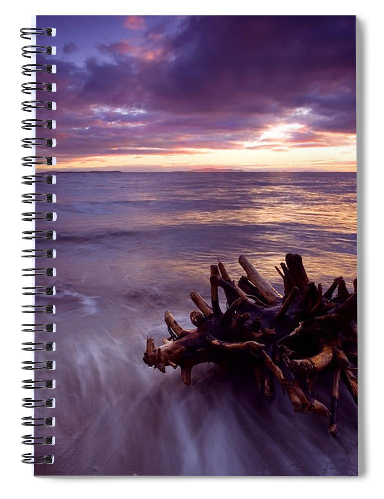 Sunset Spiral Notebook featuring the photograph Tide Driven by Mike Dawson