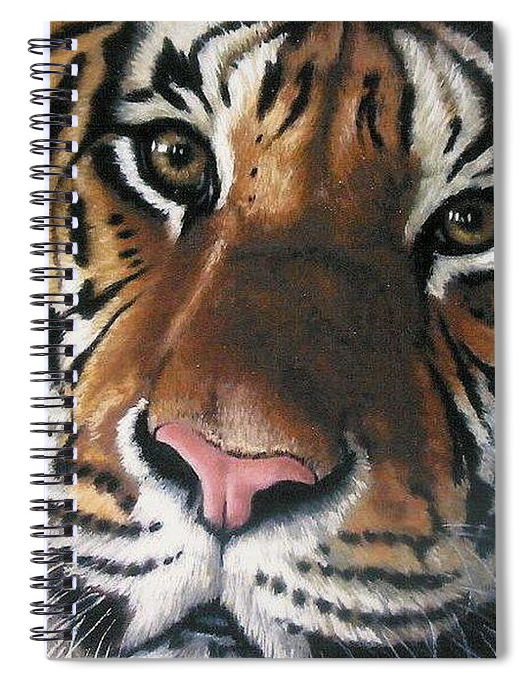 Tiger Spiral Notebook featuring the pastel Tigger by Barbara Keith