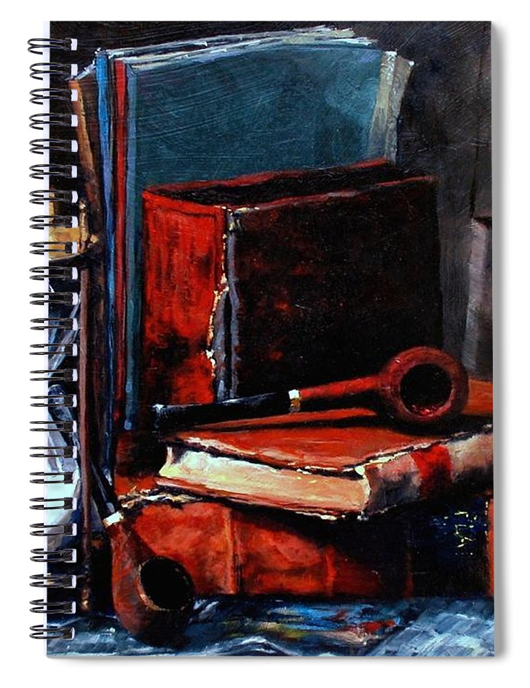 Still Life Painting Spiral Notebook featuring the painting Time and Old Friends by Jim Gola