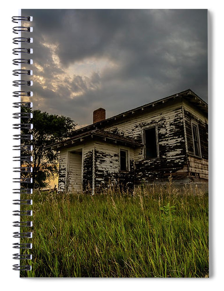 Broadland Spiral Notebook featuring the photograph Tipton by Aaron J Groen