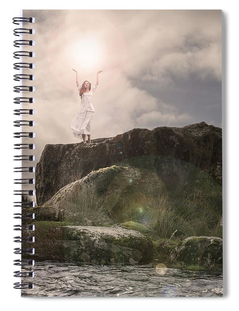 Woman Spiral Notebook featuring the photograph To Hold The Light by Clayton Bastiani