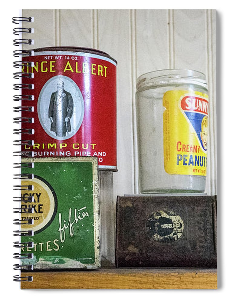 Tobacco Spiral Notebook featuring the photograph Tobacco Coffee and Peanut Butter by Douglas Barnett