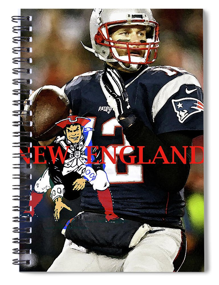 Tom Brady Number 12 New England Patriots Captain America Spiral