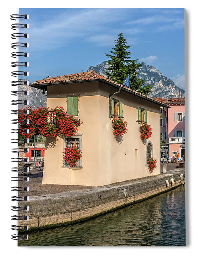 Torbole Spiral Notebook featuring the photograph Torbole - Italy by Joana Kruse