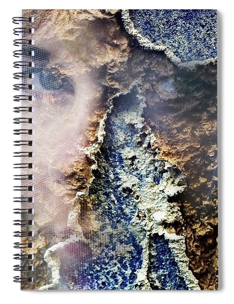 Female Spiral Notebook featuring the photograph Torn by Skip Hunt