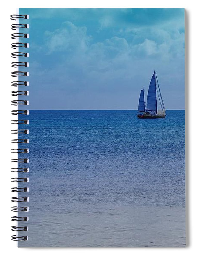 Water Spiral Notebook featuring the photograph Tranquil Blue by Debbi Granruth