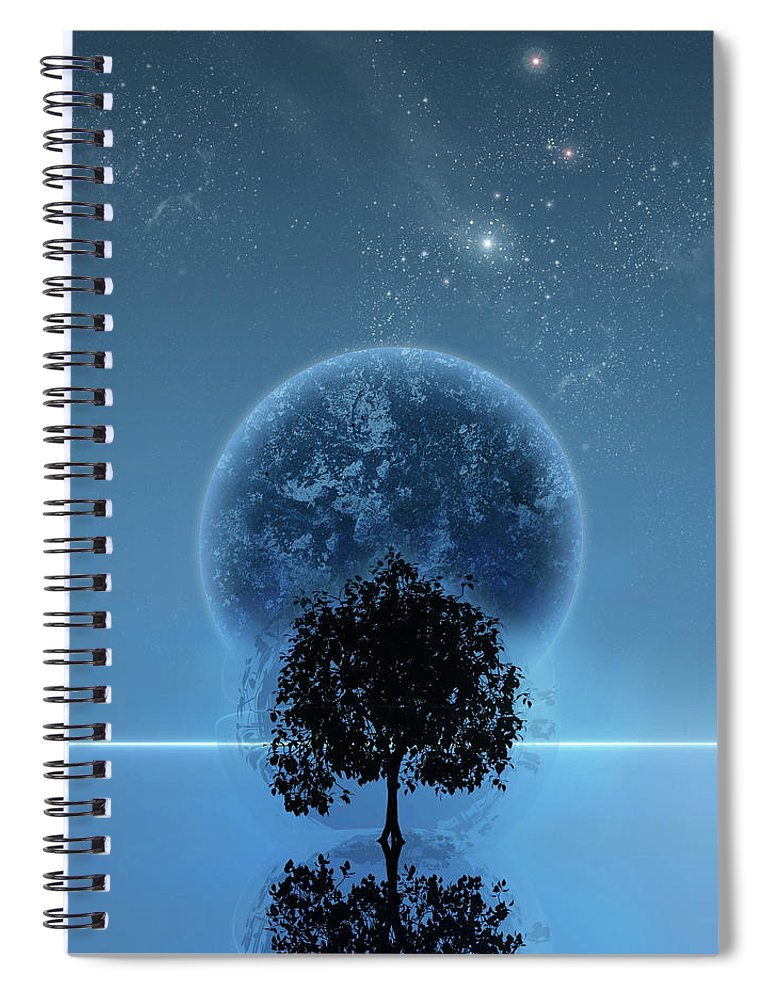 Graphic Design Spiral Notebook featuring the digital art Tree Of Life by Andreas Leonidou