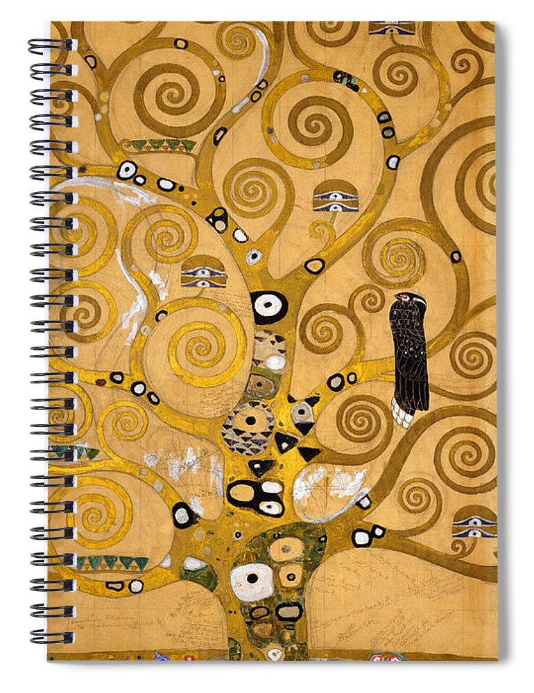 Klimt Spiral Notebook featuring the painting Tree Of Life by Gustav Klimt