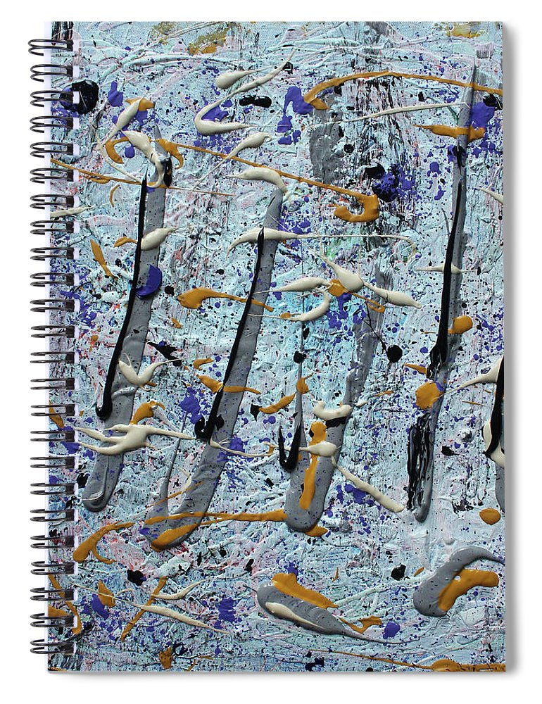 Colorado Spiral Notebook featuring the painting Trees Thru White Out by Pam Roth O'Mara