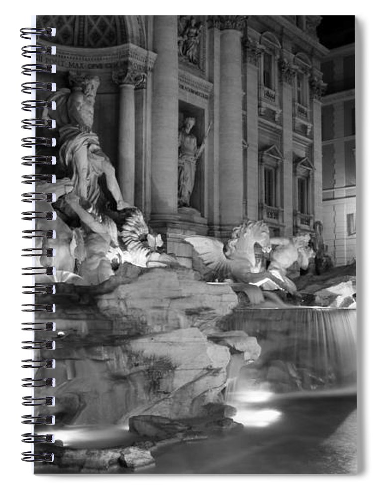 Trevi Fountain Spiral Notebook featuring the photograph Trevi Fountain Night 2 by Andrew Fare