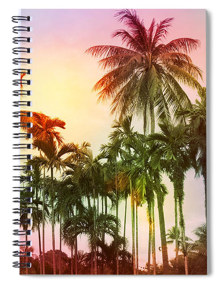 Tropical Spiral Notebook featuring the photograph Tropical 11 by Mark Ashkenazi