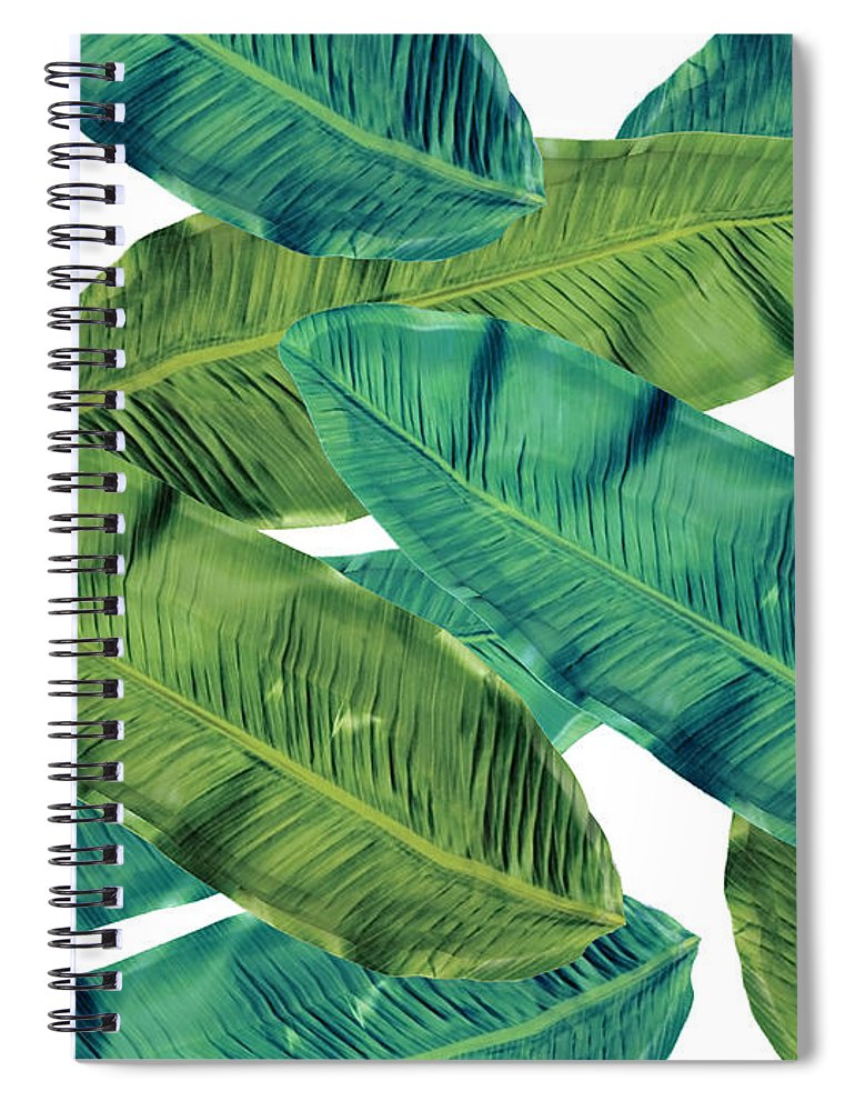Summer Spiral Notebook featuring the digital art Tropical Colors 2 by Mark Ashkenazi