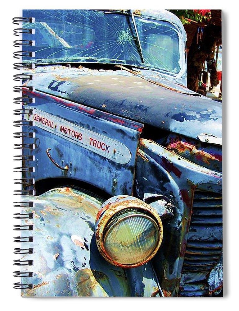 Truck Spiral Notebook featuring the photograph Truckin by Debbi Granruth