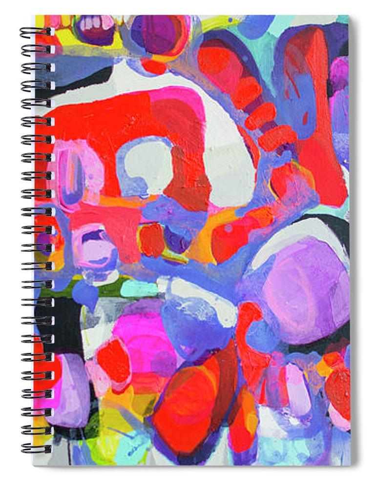 Abstract Spiral Notebook featuring the painting Try Me by Claire Desjardins