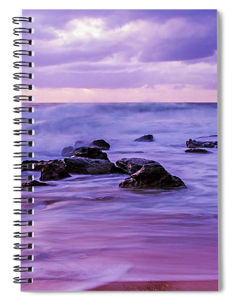 Killcare Beach Spiral Notebook featuring the photograph Turbulent Daybreak Seascape by Merrillie Redden