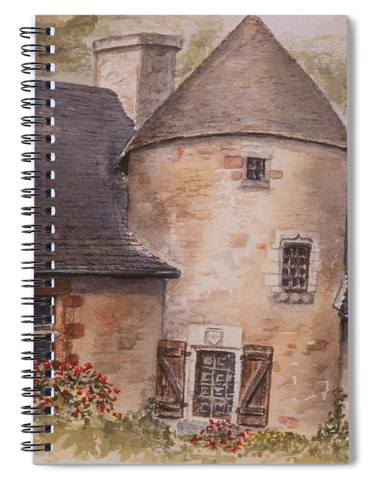 Watercolor Spiral Notebook featuring the painting Turenne by Mary Ellen Mueller Legault
