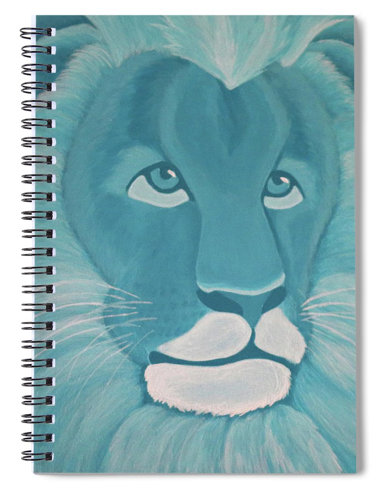 Turquoise Lion Spiral Notebook