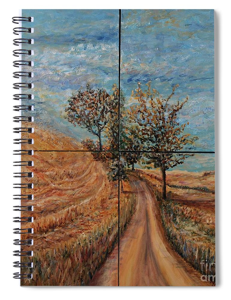 Landscape Spiral Notebook featuring the painting Tuscan Journey by Nadine Rippelmeyer