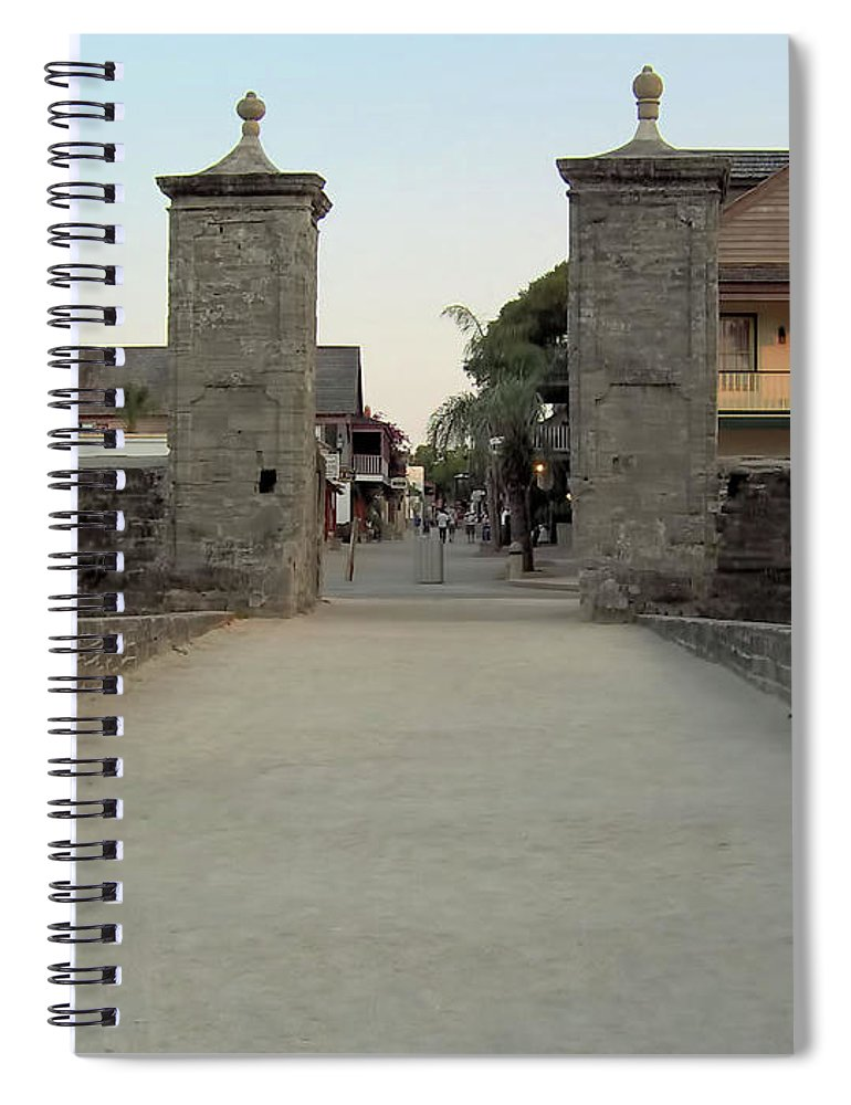 City Gates Spiral Notebook featuring the photograph Twilight At The City Gates by D Hackett