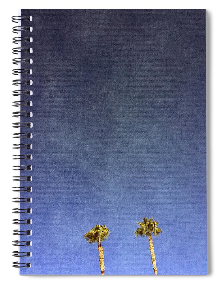 Palm Trees Spiral Notebook featuring the photograph Two Palm Trees- Art By Linda Woods by Linda Woods