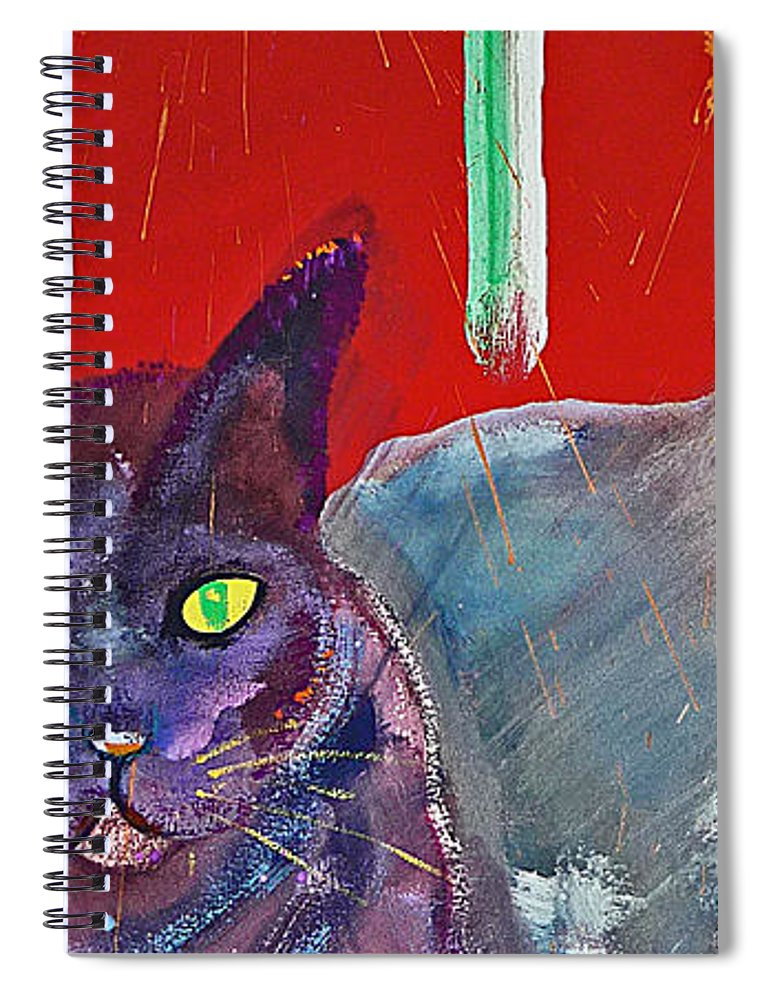 Cat Spiral Notebook featuring the painting Two Posh Cats by Charles Stuart