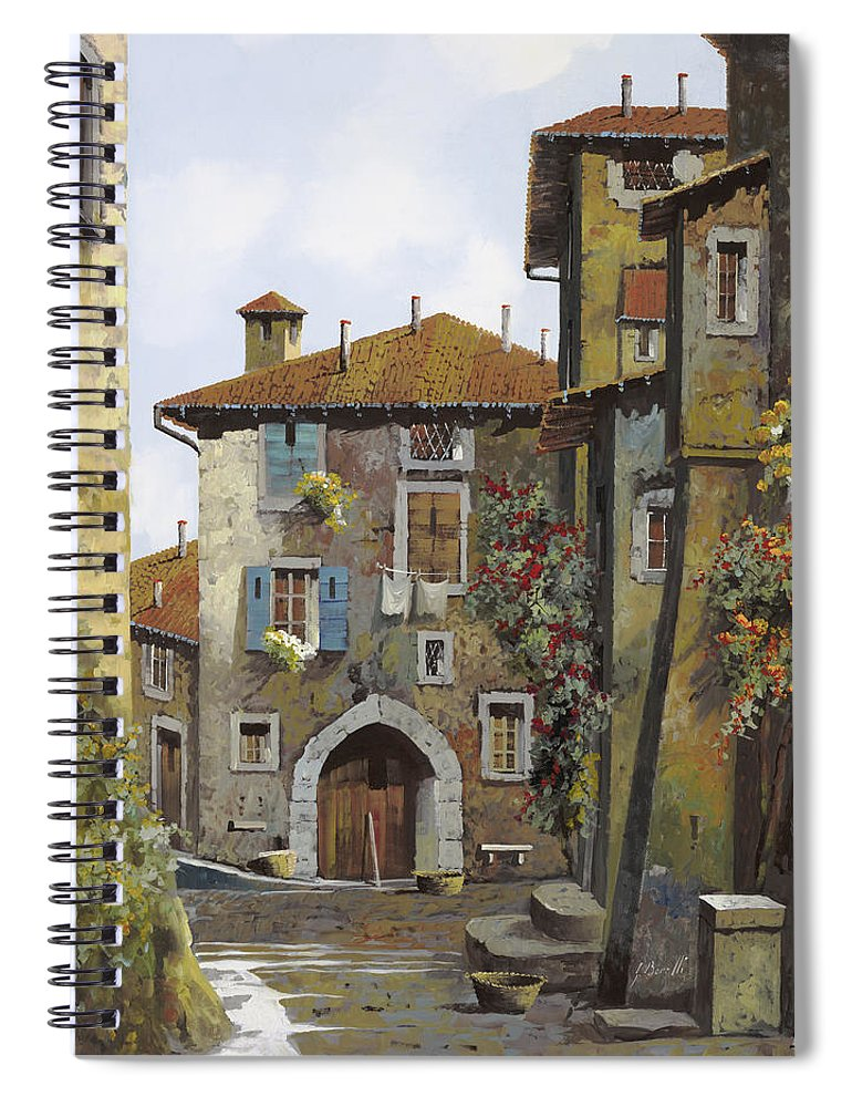 Umbria Spiral Notebook featuring the painting Umbria by Guido Borelli