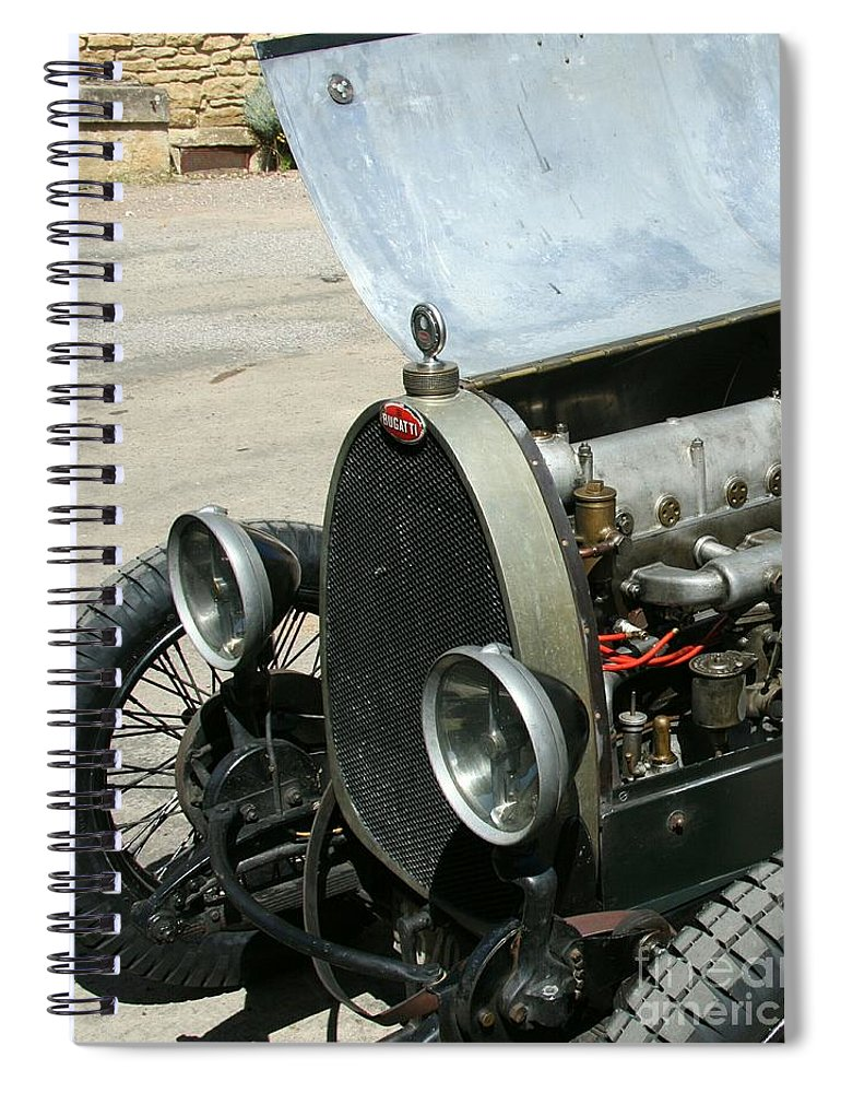 Hood Spiral Notebook featuring the photograph Under The Hood by Christiane Schulze Art And Photography