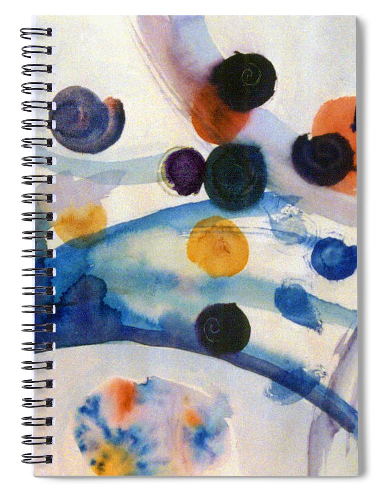 Abstract Spiral Notebook featuring the painting Under the Sea by Steve Karol