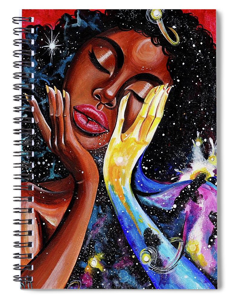 Universe Spiral Notebook featuring the painting Unlocked U.Never.See.All by Artist RiA