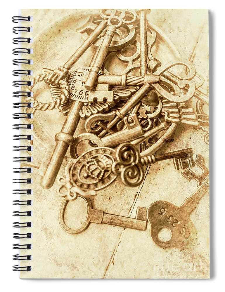 Antique Spiral Notebook featuring the photograph Unlocking The Past by Jorgo Photography - Wall Art Gallery