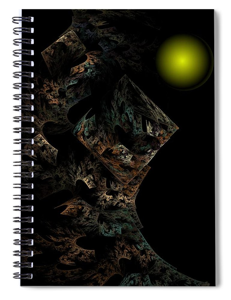 Fantasy Spiral Notebook featuring the digital art Untitled 12-18-09 by David Lane