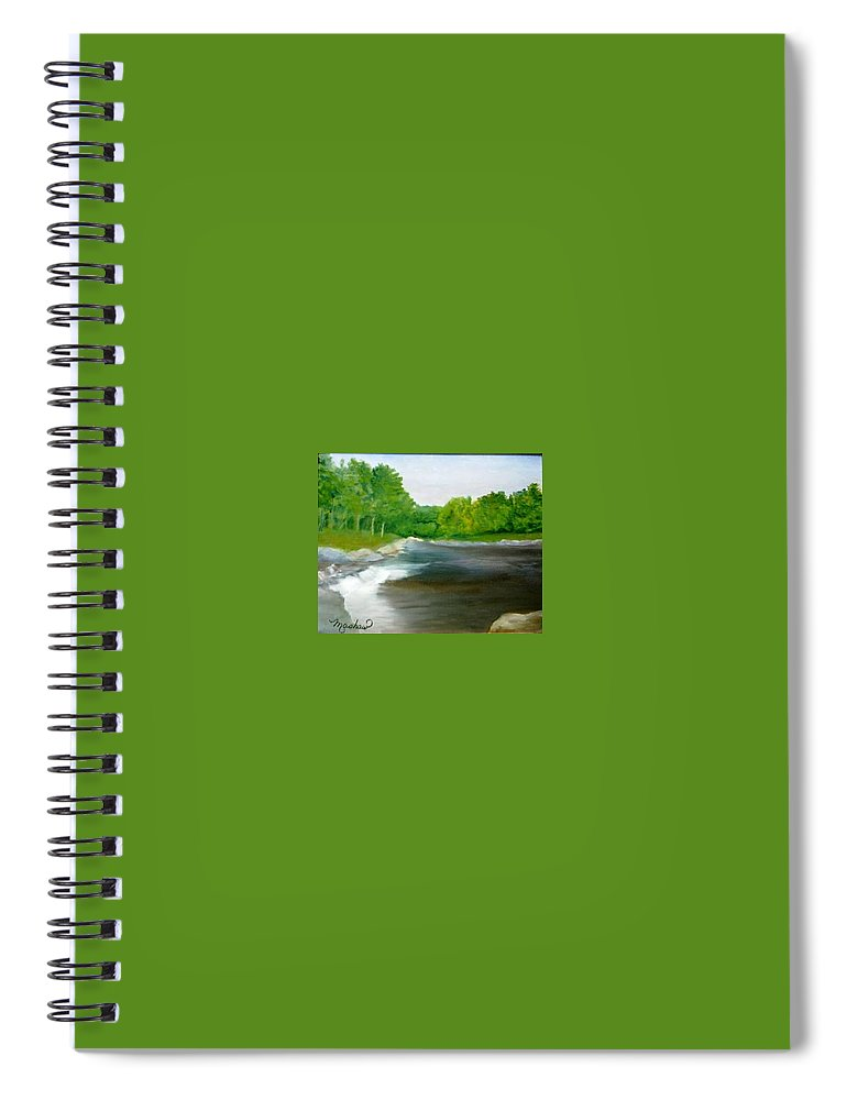 River Spiral Notebook featuring the painting Untitled Plein Aire by Sheila Mashaw