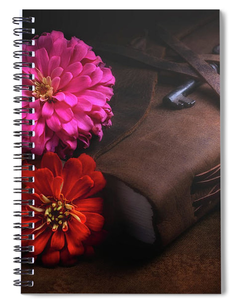 Dahlia Spiral Notebook featuring the photograph Untold Secrets by Tom Mc Nemar