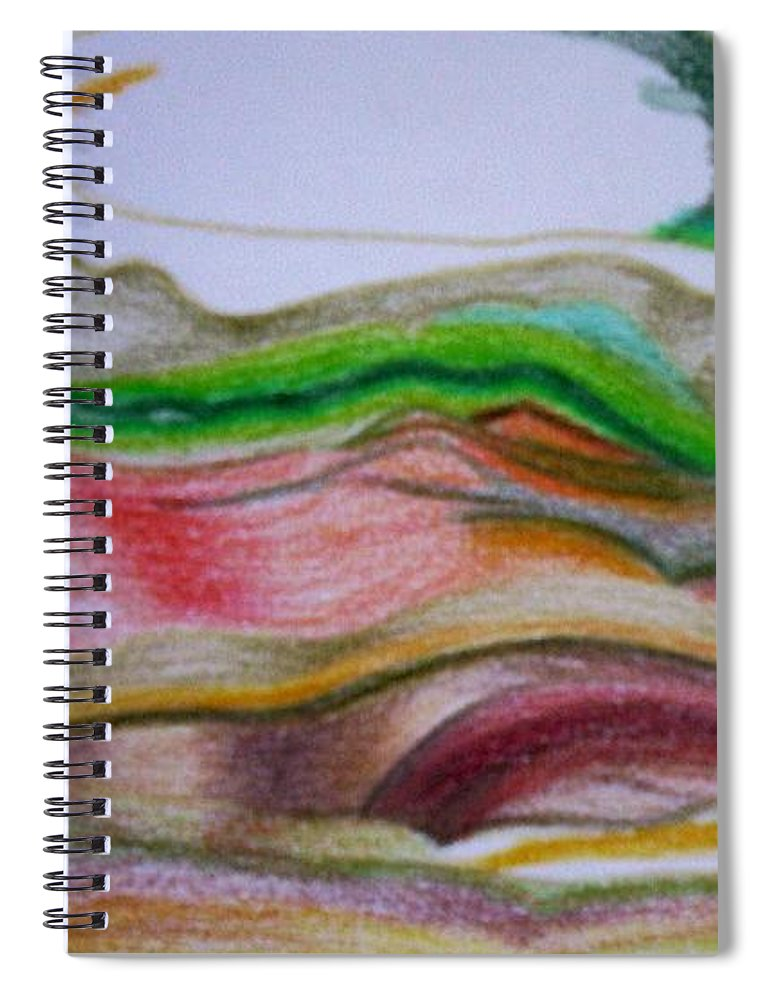 Abstract Spiral Notebook featuring the painting Valley Stream by Suzanne Udell Levinger