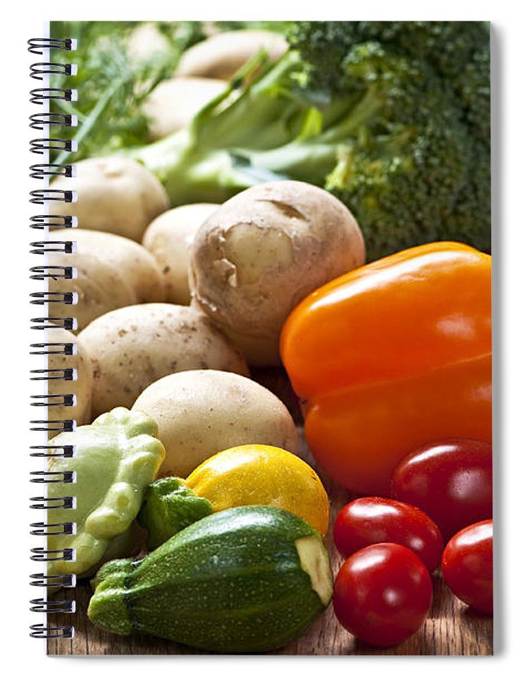 Vegetables Spiral Notebook featuring the photograph Vegetables by Elena Elisseeva